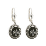 sterling silver marcasite shamrock connemara marble earrings s33246 from Solvar