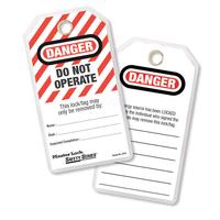 Master Lock Do not operate safety tag, english, laminated