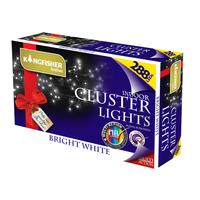 KINGFISHER 288 WHITE LED CLUSTER CHRISTMAS LIGHTS