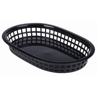 Fast Food Basket Black 37.5cm x 17.5cm Pack of 6