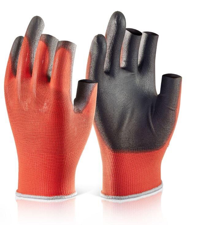 PU Coated 3 Fingerless Glove