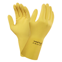 Ansell Econohands Cotton Flocked, Yellow PR