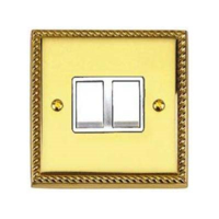 BRASS HERITAGE SWITCH 2 GANG  2 WAY