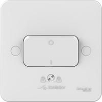 Schneider LWM 1 gang 3 pole fan isolator 10A plate switch