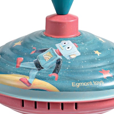 Astro robot spinning top toy - close-up