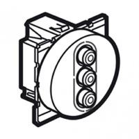 Arteor Triple RCA Socket Aud/Video Round - White  | LV0501.2591