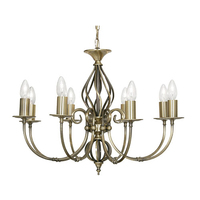 Tuscany 8 Light Pendant Antique Brass