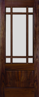 DEANTA NM9 CLEAR BEVELLED GLASS WALNUT DOOR 1981MM X 762MM X 45MM