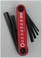 HEX KEY SET 6 PIECES 2.5-8MM