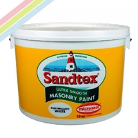 Sandtex 10L White or Magnolia Masonry Paint