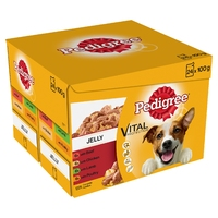 Pedigree Pouches Adult Jelly Favourites 100g 24-pack x 2