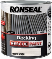 Ronseal Decking Rescue Paint 2.5lt - White Wash