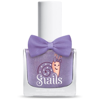 Purple kids-safe nail polish that washes off with soap and water.