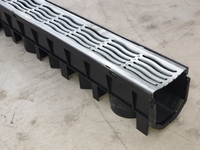 Drain Channel & Galvanised Grate 1 Metre - Domestic use