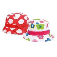 Bartleby Girls Sun Hat Asstd Spots/Flowers 53-55cm