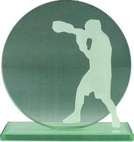 16.5cm Boxing Silhouette Jade Plaque