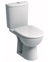 SONAS E100 ROUND CLOSE COUPLED WC W368 X H775 X D670 MM WITH CISTERN AND STANDARD SEAT