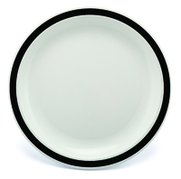 New Duo Black - 23cm Rimmed Plate
