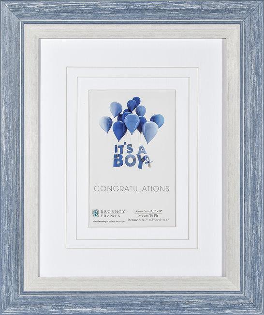 Congratulations Frame Blue & White