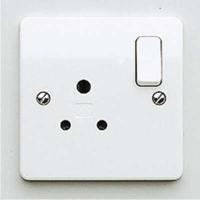 MK K771WHI Logic Plus Socket 1G 5A Round Pin WHI
