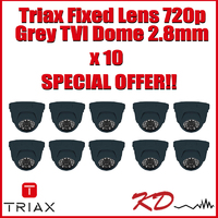 Triax Fixed  720p TVI Dome 2.8m Grey X !0