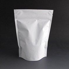 250g Matt white stand up pouch