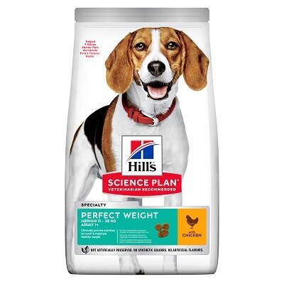 Hills Science Plan Perfect Weight Adult Medium with Chicken 12kg