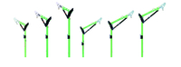 Advanced One-Piece Adjustable Offset Davit Mast Long height of 176.5 to 222.2 cm (69.5 in. to 87.5 in.)