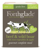 Forthglade Gourmet Dog Beef & Wild Boar with Root Veg & Apple 395g x 7