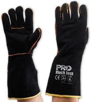 Black Jack Welders Glove Black/Gold 406mm