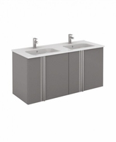 SONAS AVILA 120CM WALL HUNG VANITY UNIT GLOSS GREY W1210MM X D460MM