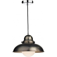 Dynamo 1 Light Pendant, Antique Chrome | LV1802.0057