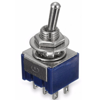 Switch| Toggle Switch Sub-Mini 6 Pins DPDT ON-ON