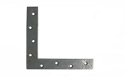 Flat Corner Plate 2 inch ZP Pack of 4