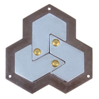 Cast Hexagon Puzzle. Level 4. Order in multiples of 1.