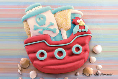 20.335.93.0065 Pirates Boat- Silicone Mould 24.5x 23 H40mm
