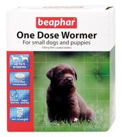 Beaphar One Dose Wormer Small Dog & Puppy 6 Tab x 1