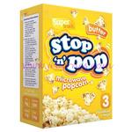 Stop n Pop Microwave Popcorn buttered 3pk x16
