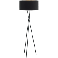 Floor Lamp Black + Black And Copper Shade | LV1902.0010