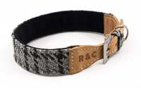 Ralph & Co Tweed & Leather Collar - Henley Grey Small x 1