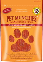 Pet Munchies Dog Treats - Chicken Breast Fillets 100g x 8
