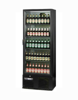 Bottle Cooler Single Door Upright Black 600x520x1800mm