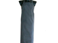 Twin Stripe Apron Blue