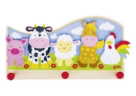 Children's Farm Animal Coat Hook