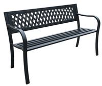 Garden Bench Steel (126 X 53 X 77Cm)