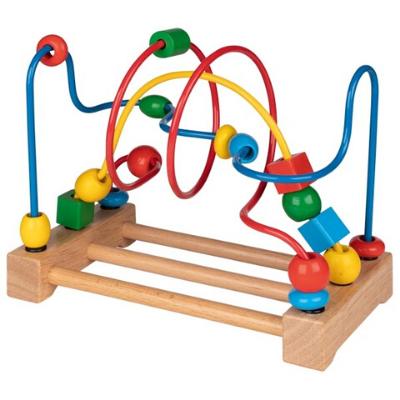 Children's table-top bead maze