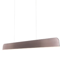 21w LED Bar Pendant Light, Deep Red Anodised. Warm White Light | LV2103.0002