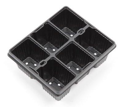 Aeroplas Bedding Pack 6 Cell - Black [ Bulk ]