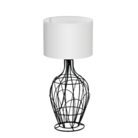 EGLO Fagona Black with White Shade Small Table Lamp | LV1902.0070