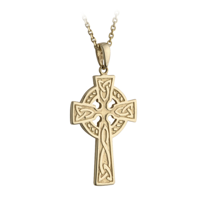 10K SMALL DOUBLE SIDED CROSS PENDANT